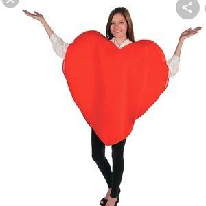 Red costume design heart dress Valentine's day